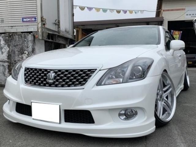 トヨタ 3.5アスリート HDDナビ・Bカメラ 本革 フルエアロ