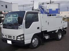エルフトラック高所作業車 グー鑑定車 5速マニュアル車 バックモニター