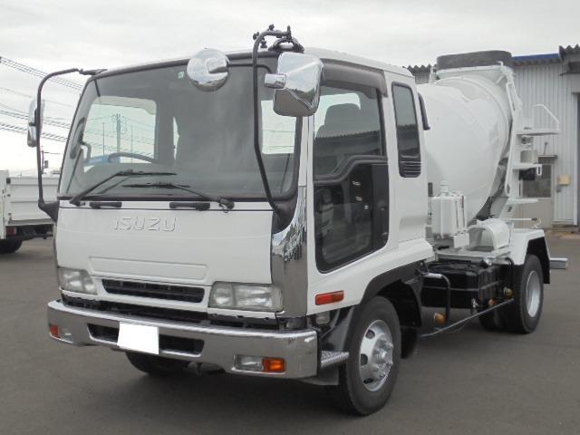 いすゞ 3.75t ミキサー車 5速マニュアル車 ETC