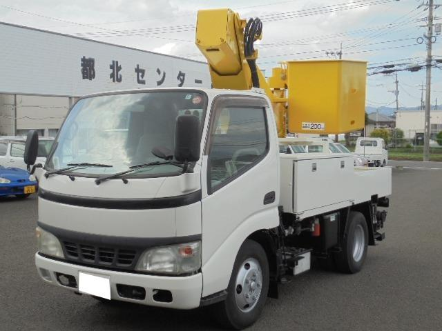 日野 デュトロ 高所作業車9.7m 5速ミッション ディーゼル 車検整備付