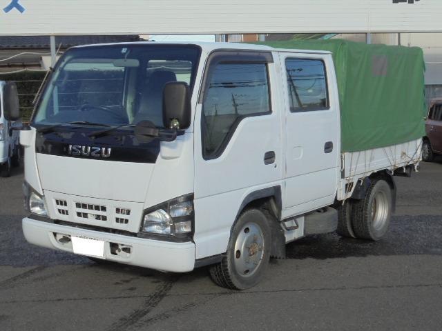いすゞ エルフトラック 2.0tディーゼル Wキャブ 6人乗り 幌付き ETC