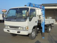 エルフトラック2t ハイジャッキクレーン タダノ3段クレーンフックイン