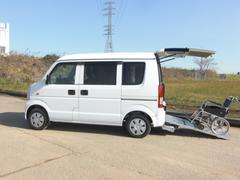 エブリイワゴン車いす移動車 補助シート ウインチ 福祉車両