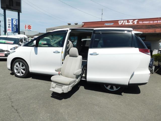 トヨタ エスティマ G サイドリフトアップシート 両Pスラ ナビテレビ Bカメラ Pスタート スマートキー サンルーフ ETC