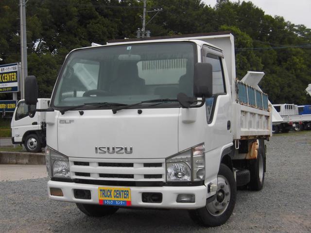 いすゞ エルフトラック 強化ダンプ 3トン強化ダンプ 全低床コボレーン付き 4ナンバー 積載量3000KG内寸3050/1610
