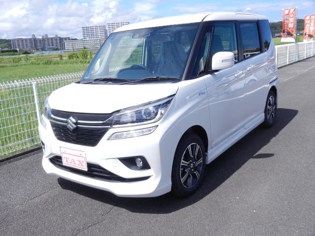 スズキ ハイブリッドMV ナビ/ワンセグ/Bluetooth・両側電動ドア・衝突軽減ブレーキ・禁煙車・保証書