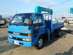 エルフトラック標準キャビン タダノ4段クレーン フックイン 2t
