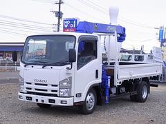 エルフトラックタダノ製3段クレーン フックイン NOx・PM適合車 ETC