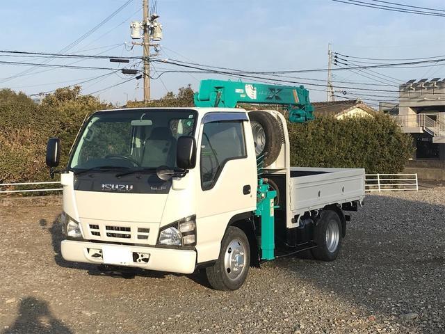 いすゞ  4WD マエダ製3段クレーン ラジコン付 フックイン NOx・PM適合車
