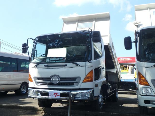日野 4tダンプ 3800kg積載 荷台サイドトビラ開閉