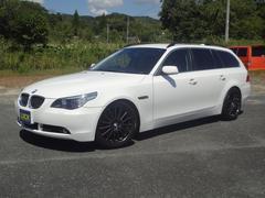 BMW525iツーリング 黒革シート ローダウン フルセグテレビ