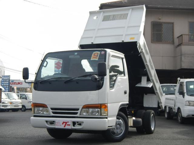 いすゞ エルフトラック ダンプ 2.0tローダンプ 強化ボデー 5速ミッション ETC フル装備