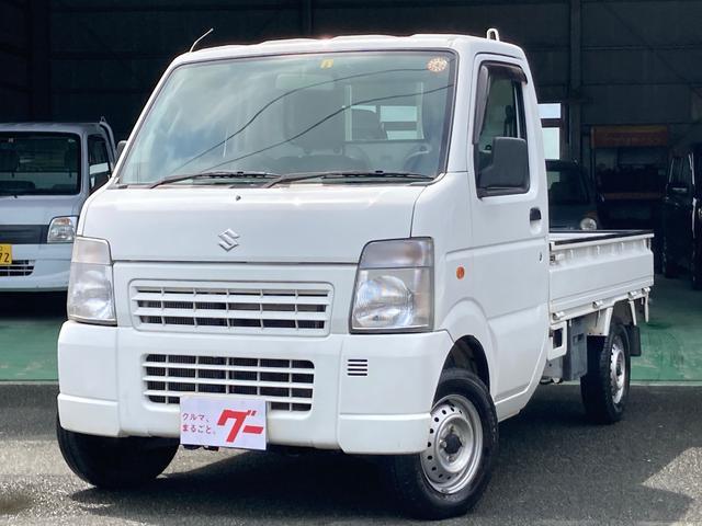 キャリイトラック KCエアコン・パワステ 4WD ワンオーナー 5速MT AC PS 三方開