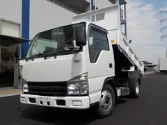 エルフトラック3.0D強化ダンプフルフラットロー3トン極東開発6速MT
