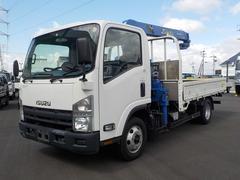 エルフトラックワイド 4WD タダノ3段クレーンラジコン付 全低床 2t積