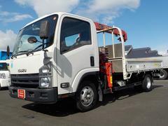 エルフトラックワイド 4WD ユニック3段クレーンラジコン付 全低床2t積