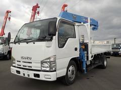 エルフトラック3.0D 標準ロング タダノ4段クレーン フックイン