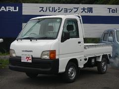 サンバートラックTB 5速ミッション・エアバック・4WD・3方開・純正ラジオ