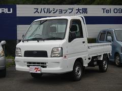 サンバートラック4WD・5速ミッション・エアコン・3方開・純正ラジオ