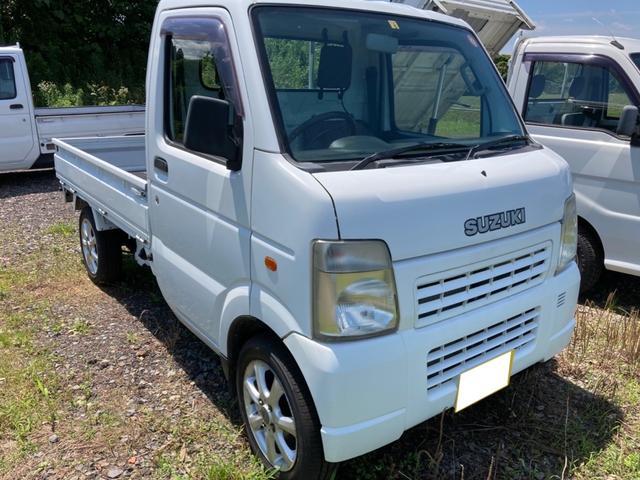 スズキ  MT 軽トラック ホワイト 走行距離30378km 車検整備付き 2WD