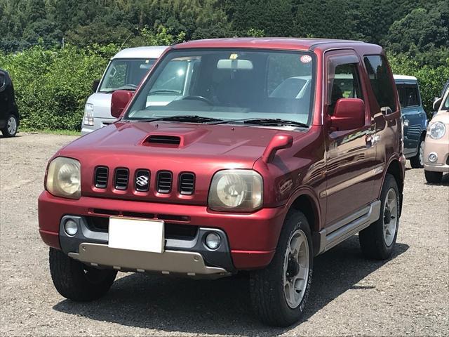 スズキ ジムニー ランドベンチャー インタークーラーターボ・4WD・車検令和3年3月・オートマ車・純正アルミ・背面タイヤ・CDオーディオ