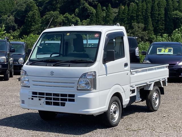 スズキ KCエアコン・パワステ農繁仕様 4WD エアコン パワーステアリング 5速マニュアル 車検整備付