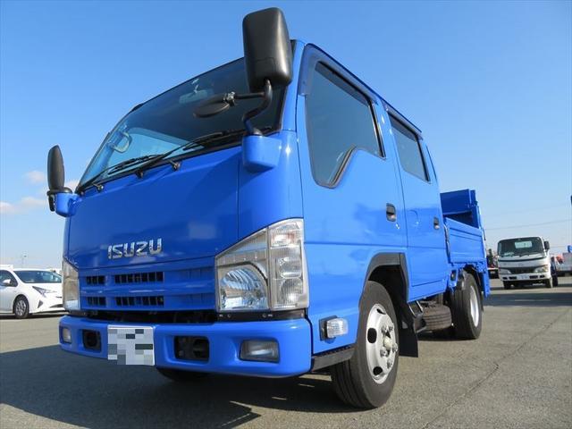エルフトラック Wキャブ 800kg能力パワゲート付き