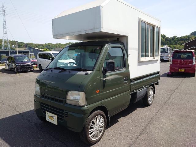 スズキ キャリイトラック ターボ                           トラベルハウス キッチンカ-仕様車