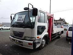 日産ディーゼルUDトラック 2.4t積 セルフ 重機回送車 4段クレーン