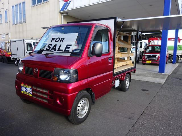 日産 4WD パネルバン 3方開 跳ね上げ式 移動販売車