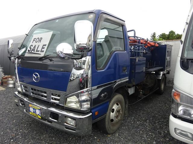 マツダ タイタントラック 貯水槽清掃車 2ペダル モリタエコノス 水タンク1600L
