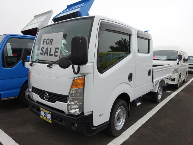 日産 アトラストラック Wキャブ 4WD 1.15t 6人乗り リヤヒーター ETC