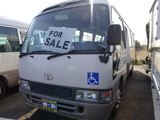トヨタ 福祉車両 24人乗り オートマ リフト付 車椅子2基 自動扉