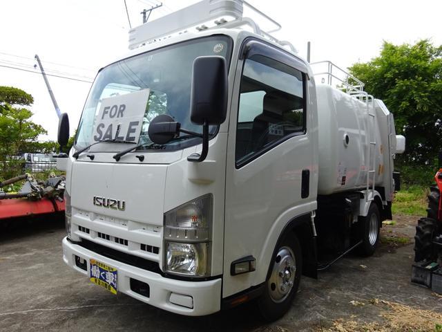 いすゞ エルフトラック 2t 塵芥車 巻込式パッカー車 モリタKA643D オートマ