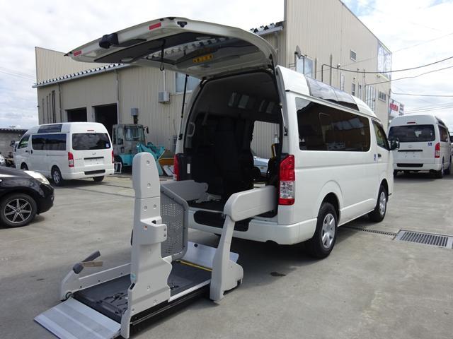 トヨタ レジアスエースバン ロングDX ハイルーフ 福祉車両 4WD 電動リフト付き 車イス2基搭載可 Bタイプ オートステップ キーレス バックカメラ 10人乗り ターボ
