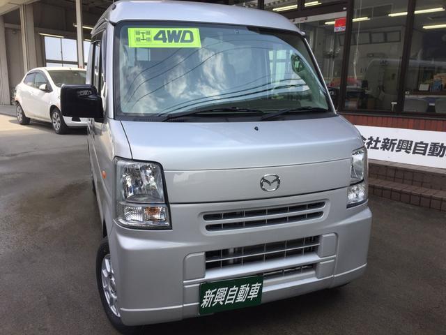 マツダ バスター 切替4WD 新品タイヤ 黒革調シートカバー