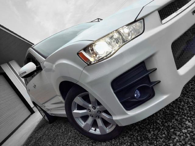 三菱 アウトランダー ローデスト24G ナビ 4WD サンルーフ 純正AW パドルシフト HID AFS ETC フルセグ