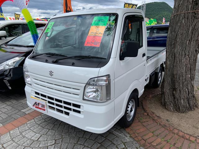 スズキ KCエアコン・パワステ 4WD エアコン パワステ ダブルエアバッグ ABS ラジオ