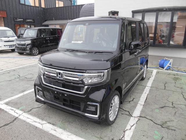 ホンダ N-BOXカスタム Lターボ 4WD 両側電動スライドドア 届出済未使用車