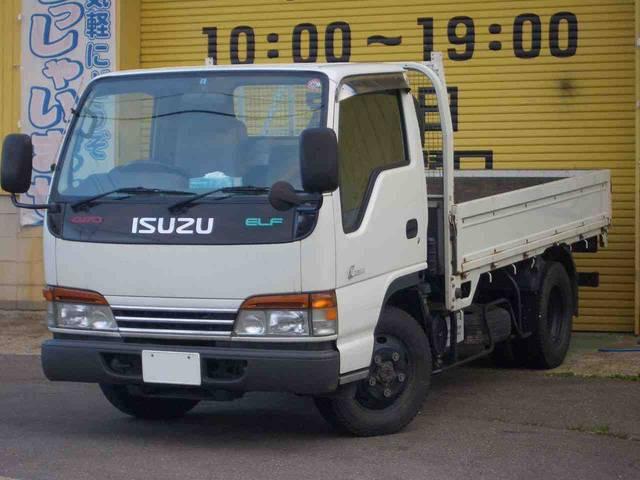 いすゞ エルフトラック ロング 4WD 2t積 4.6Lディーゼル5速 木床3.1m