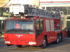 日本モリタ40mはしご車消防車梯子車ハシゴ車4WS