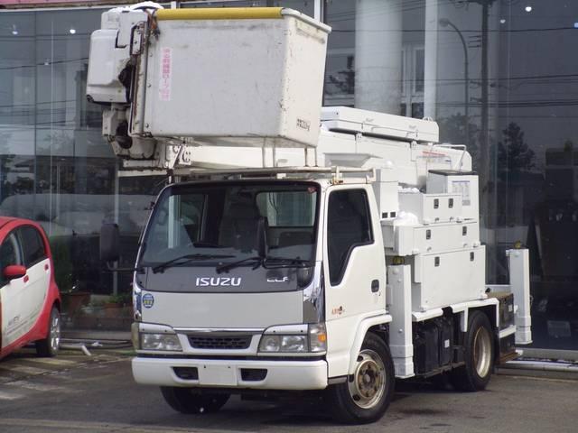 いすゞ エルフトラック 高所作業車タダノ電工仕様15m2人乗200kクレーン自動格納