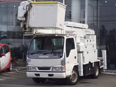 エルフトラック高所作業車タダノ電工仕様15m2人乗200kクレーン自動格納