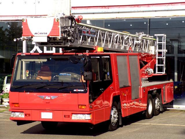 40mはしご車消防車梯子車ハシゴ車4WS