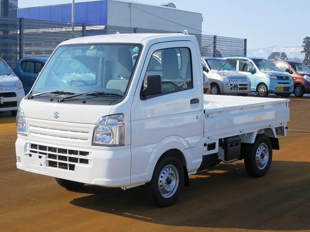 スズキ KCエアコン・パワステ 4WD 5MT エアコンパワステ エアバック2 届出済未使用車