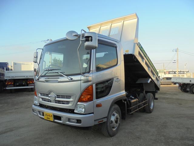 日野 中型ダンプ 極東 手動シート TKG-FC9JCAA
