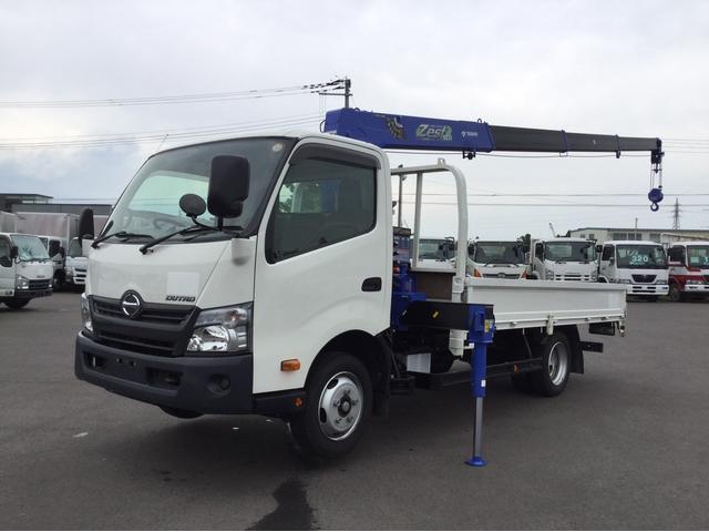 日野 クレーン車 タダノ4段 フックイン ワイド ロング