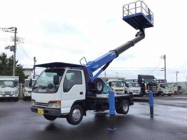 いすゞ タダノ旋回デッキ型高所作業車 12m デュアルモードMT