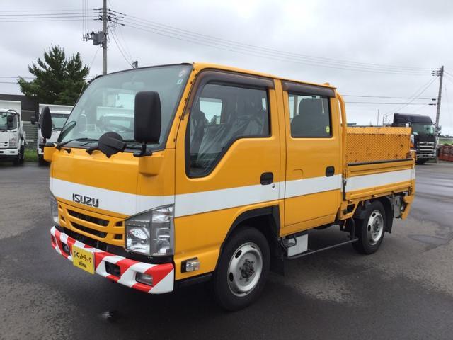 いすゞ エルフトラック Wキャブ 4WD 極東アーム式 パワーゲート600kg