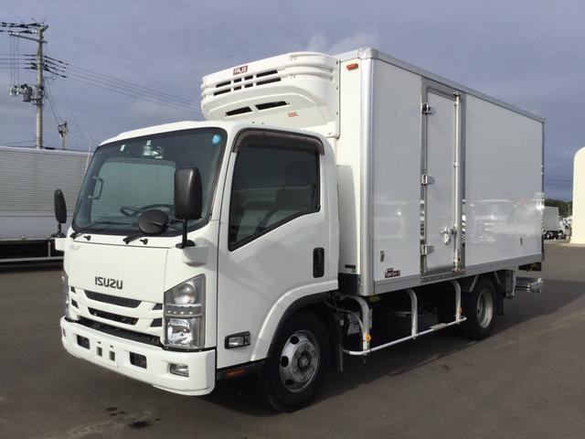 いすゞ エルフトラック  日本フルハーフ冷蔵冷凍バンパワーゲート付 菱重冷凍機+30℃-30℃